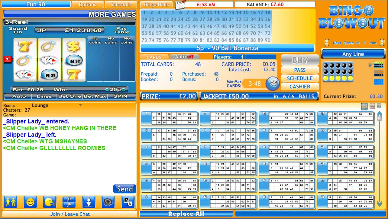 free bingo 90 ball bingo online